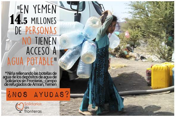En Yemen 14.5 millones de personas no tienen acceso a agua potable.