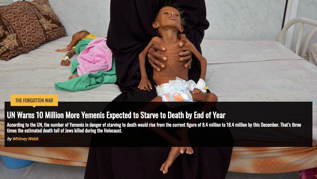 La ONU advierte que 10 millones más de yemeníes esperan morir de hambre antes de fin de año