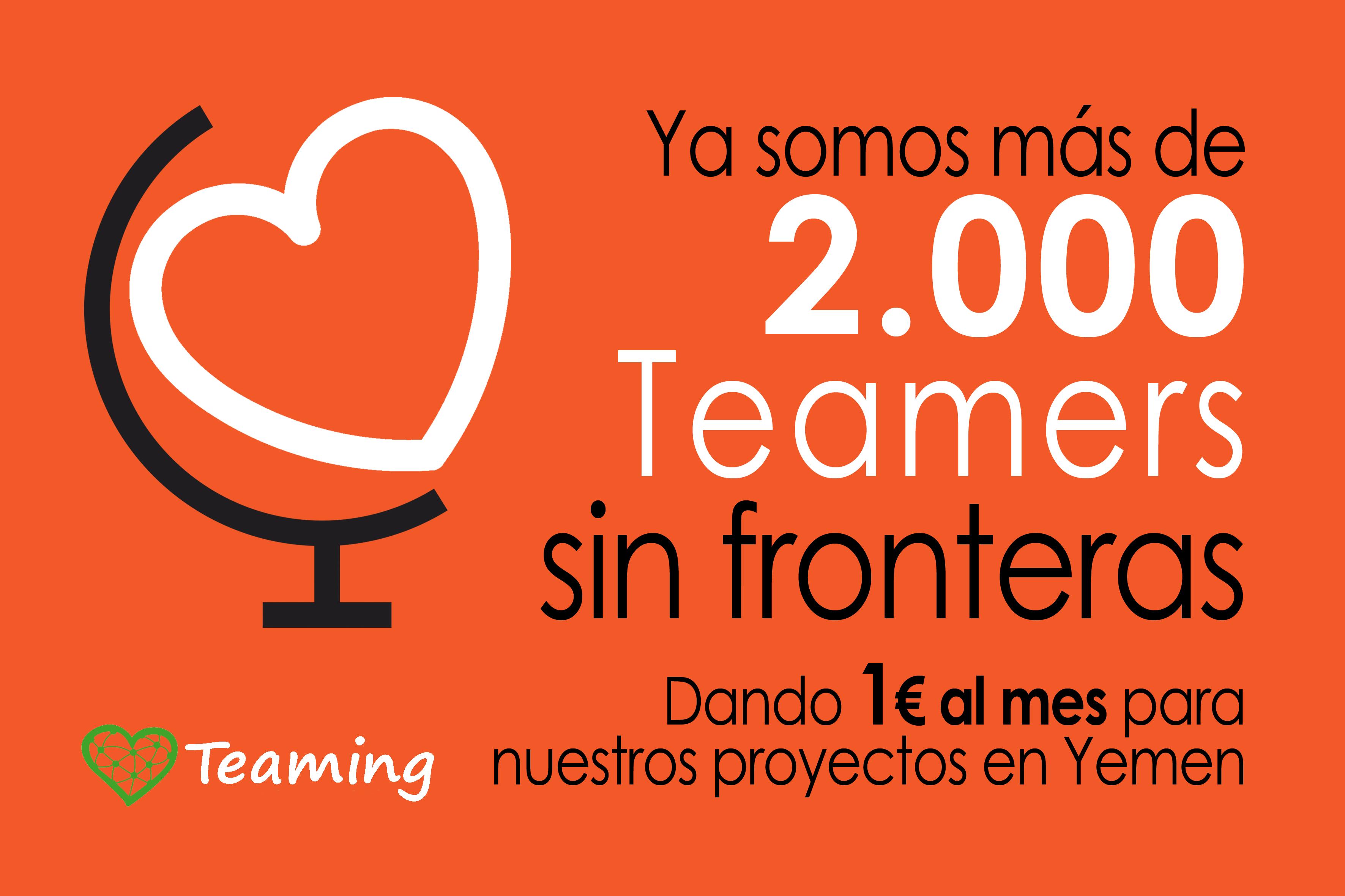 Ya somos más de 2.000 teamers sin fronteras!