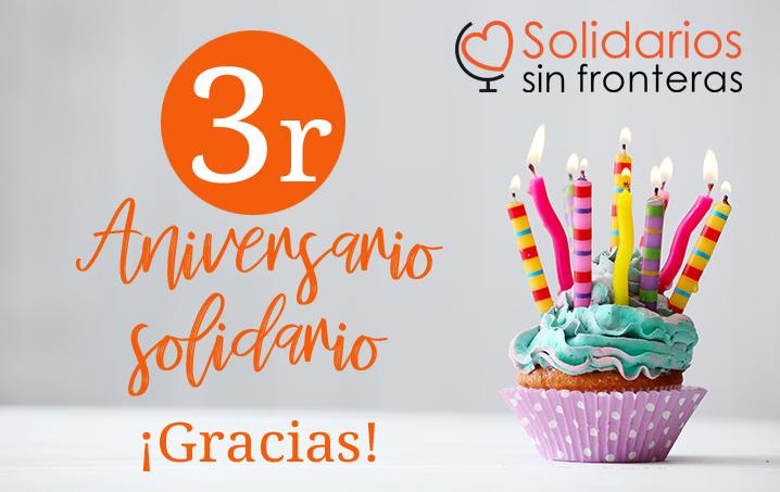 3er ANIVERSARIO SOLIDARIOS SIN FRONTERAS