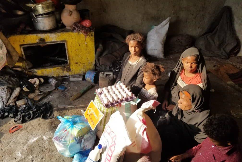 Nuevo reparto de alimentación a familias desplazadas, Julio 2019