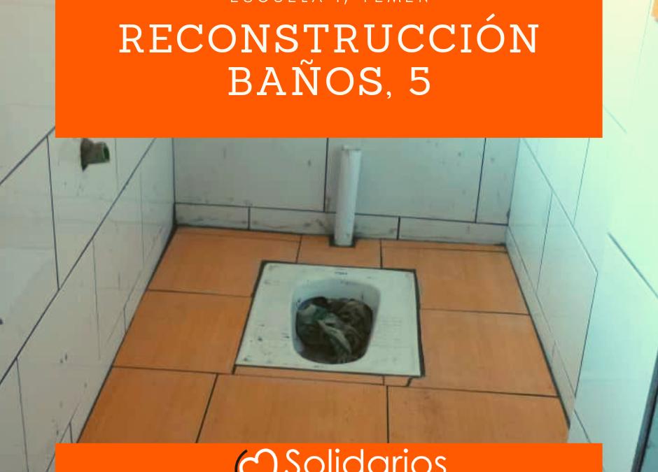 Obras de reforma de los baños de la escuela de las niñas, 5