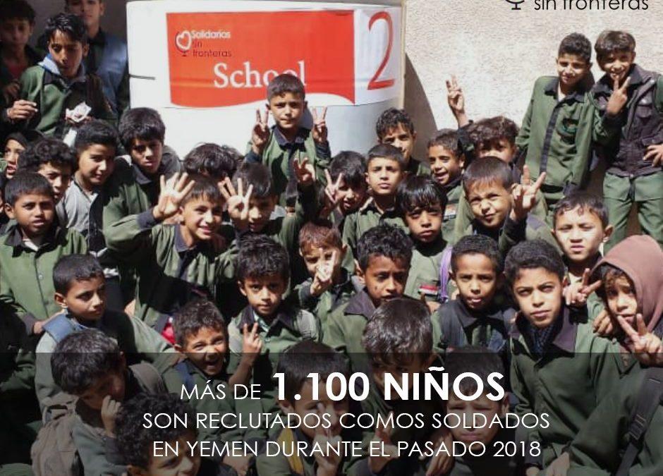 Más de 1.117 niños fueron reclutados como soldados durante el 2018