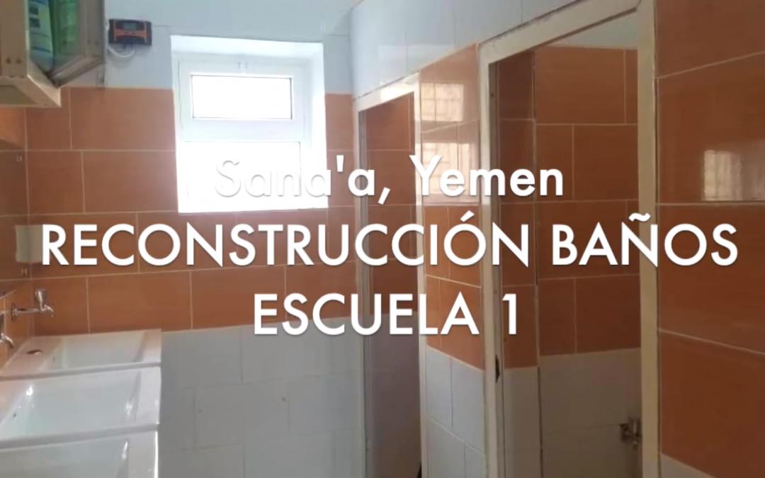 Terminadas las obras de reforma de los lavabos de la escuela de las niñas en Sana'a, Yemen