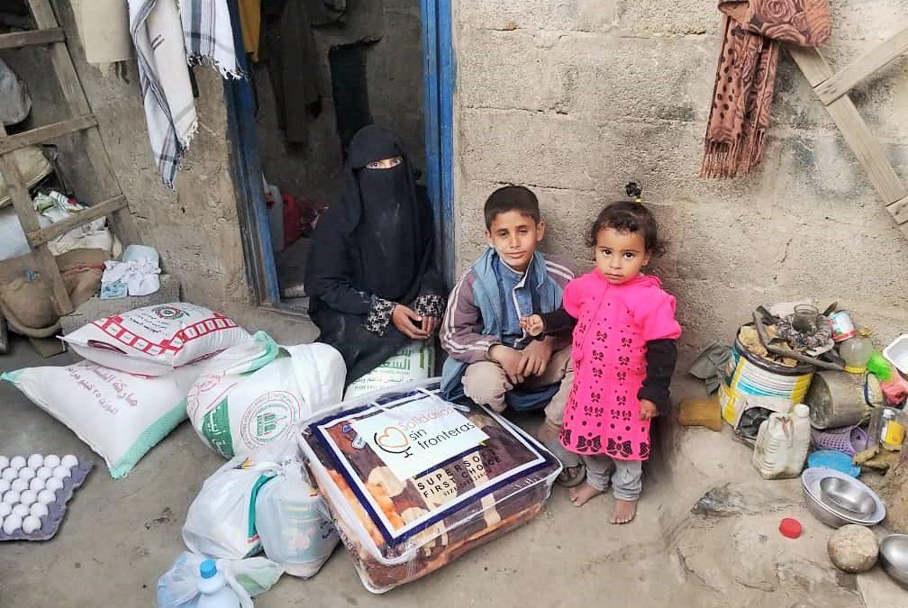 Campaña anual de MANTAS para familias con niñ@s en Yemen
