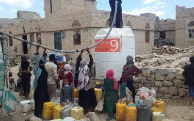 Rellenos semanales campos de Refugiados y Escuelas, Yemen