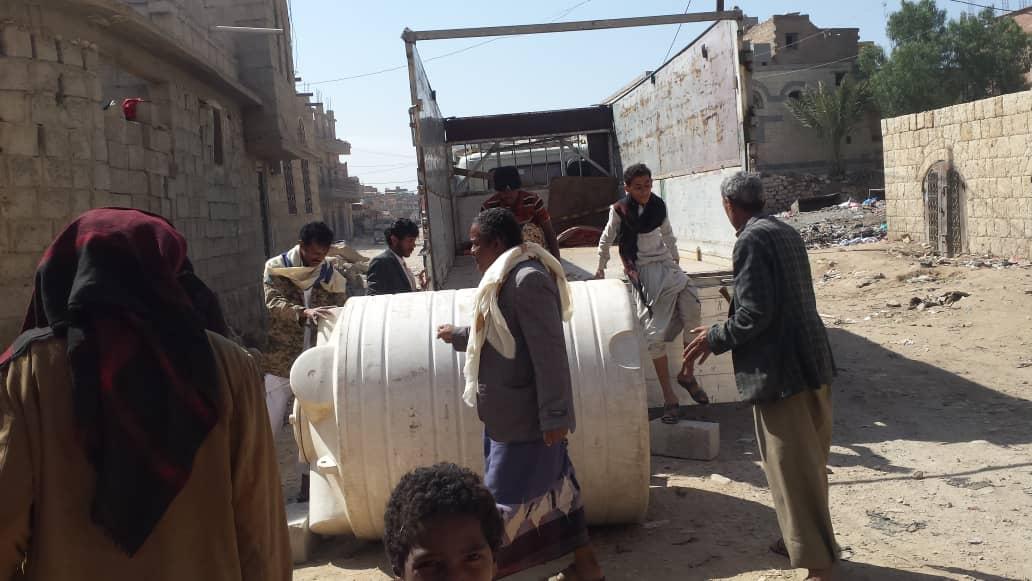 Traslado de 3 depósitos más al campo de refugiados Raydah, Yemen