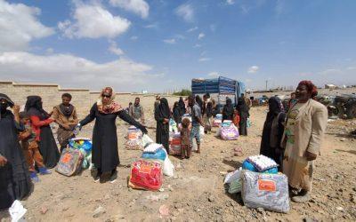 Nuevo Reparto de Alimentos; Campo desplazados de Arhab, Yemen