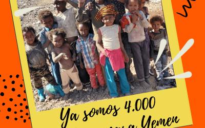 ¡Ya somos 4.000 teamers dando 1€ al mes para Yemen!
