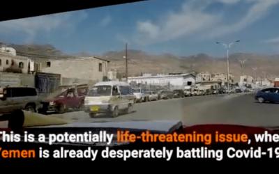La crisis del combustible en Yemen amenaza al sistema alimentario, de agua y sanitario.